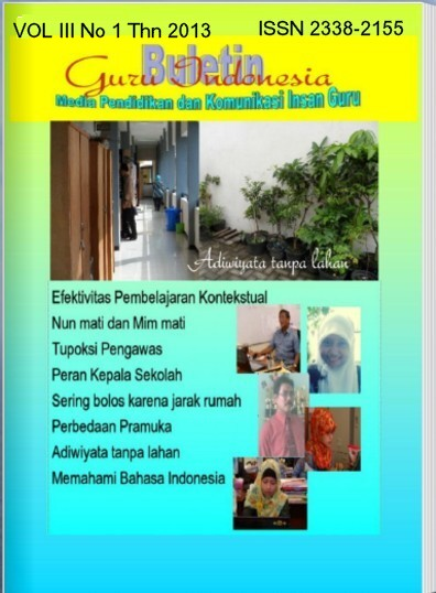 Sampul depan Cover Vol III No 1 Thn 2013